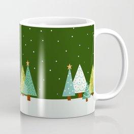 Holly Jolly Christmas Trees - Green Coffee Mug