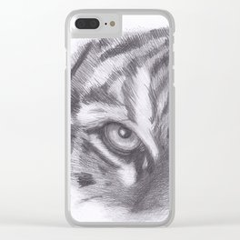 Tiger eyes Clear iPhone Case
