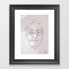 One Line Miyazaki Framed Art Print