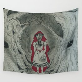 Feral Red Wall Tapestry
