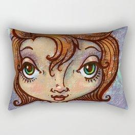"""Cattitude"" Rectangular Pillow"