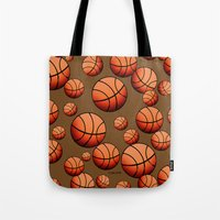 basketball Tote Bags featuring Basketball by joanfriends
