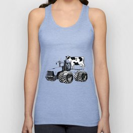 stolen tractor and cow Unisex Tank Top