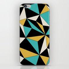 Geo - blue, orange, black and white. iPhone & iPod Skin
