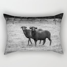 Black and white goats Rectangular Pillow