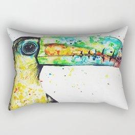 Toucan Watercolour Painting Rectangular Pillow