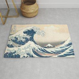The Great Wave off Kanagawa by Katsushika Hokusai from the series Thirty-six Views of Mount Fuji Art Rug