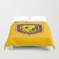 merlin Duvet Covers featuring Merlin Pendragon Crest by sirwatson