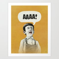 AAAA! (Golden) Art Print