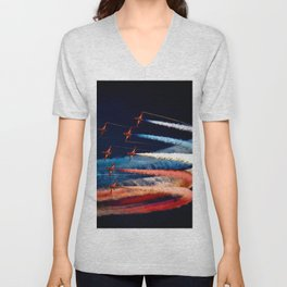 BEAUTIFUL AIRPLANE FORMATION1 Unisex V-Neck