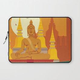 Bangkok, Thailand ilustration Laptop Sleeve