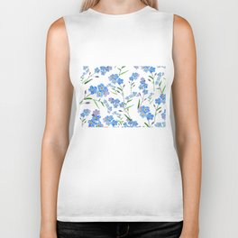 forget me not Biker Tank