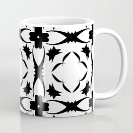 Ornaments damask seamless black and white squares decorative graphic vector pattern3 Coffee Mug