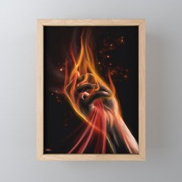|| The Fire Within || Framed Mini Art Print
