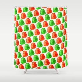 Christmas Gumdrop Pattern Shower Curtain