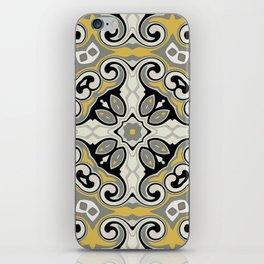 Edwardian Geo Yellow Grey iPhone Skin