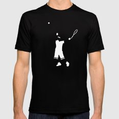 Tennis player X-LARGE Black Mens Fitted Tee