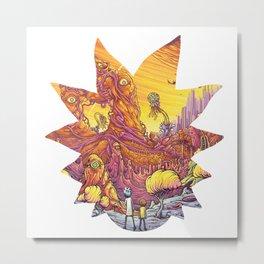 Rick and <morty Metal Print