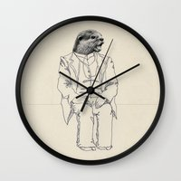 otter Wall Clocks featuring Otter by Federica Fragapane