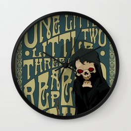 One Little Two Little Three Little Reapers... Wall Clock