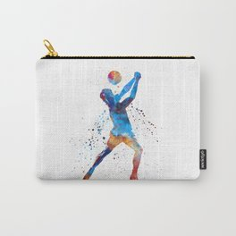 Volley ball player man 01 in watercolor Carry-All Pouch