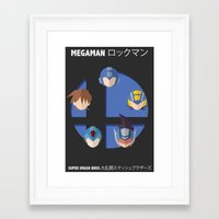 smash bros Framed Art Prints featuring Megaman Smash Bros. by CmOrigins