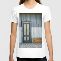 bathroom T-shirts featuring Bathroom Doors by Agrofilms