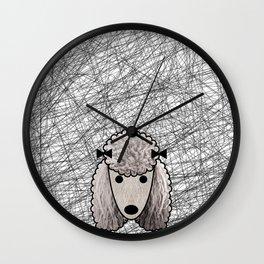 Poodle Dog Wall Clock
