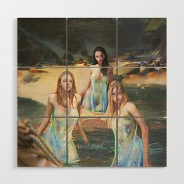"Sirens (""Charm of of the Ancient Enchantress"" Series) Wood Wall Art"
