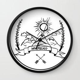 Mountain Wanderlust Wall Clock