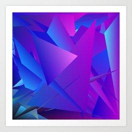 Rhapsody in Blue 4 Art Print