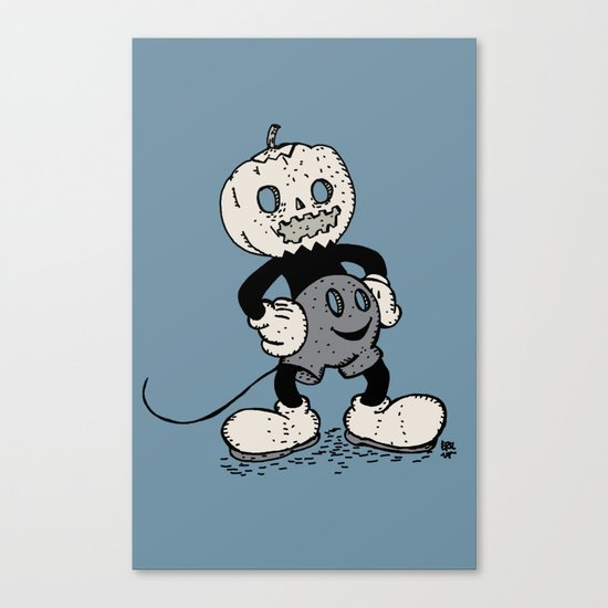Mickey Pumpkin (desaturated) Canvas Print