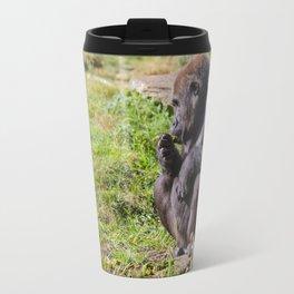 an sitting gorilla Travel Mug