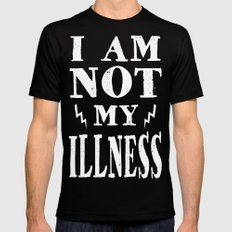 I Am Not My Illness - Print Mens Fitted Tee Black 2X-LARGE