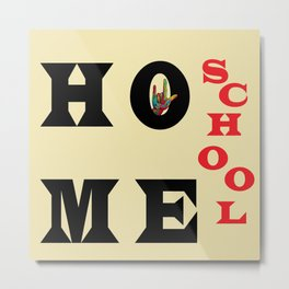 I Love Home School Metal Print