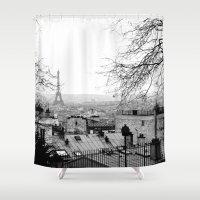 paris Shower Curtains featuring Paris by Studio Laura Campanella