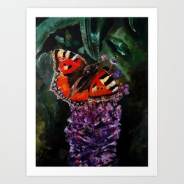 The butterfly Art Print