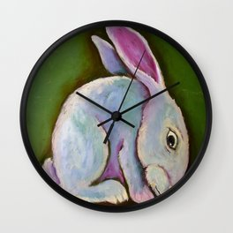 Purple Rabbit Wall Clock
