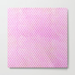 Pink Glitter Mermaid's Tail Metal Print