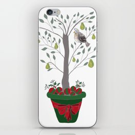 12 Days of Christmas Partridge in a Pear Tree iPhone Skin