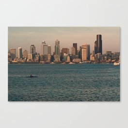 Kakayers in the Puget Sound Near Seattle Canvas Print