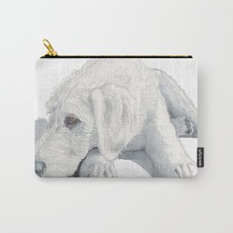 Sleepy Labradoodle Pup Carry-All Pouch