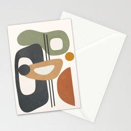 Modern Abstract Shapes 12 Stationery Cards