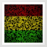rasta Art Prints featuring Electric Rasta by organicdreams