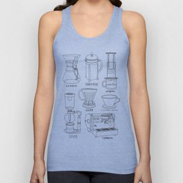 Coffee Brewing Unisex Tank Top
