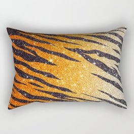 Tiger Shout Glitter Stripe Rectangular Pillow