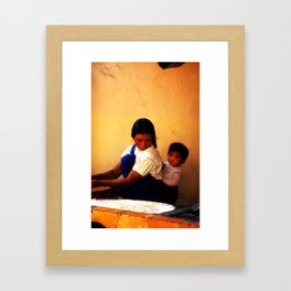 Chamula Woman and Child Framed Art Print
