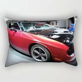 2014 Auto Show Prototype Scat Pack Two Tone Challenger with shaker hood Rectangular Pillow
