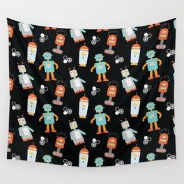 Mr. Roboto Black Wall Tapestry