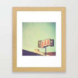 Bar. Los Angeles photograph Framed Art Print